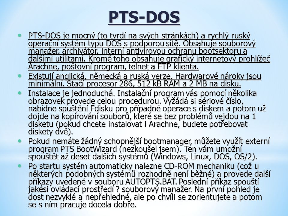 PTS-DOS