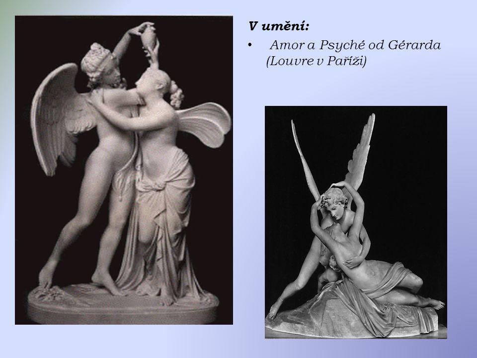 V umění: Amor a Psyché od Gérarda (Louvre v Paříži)