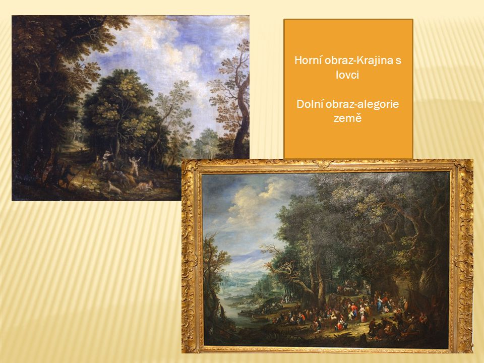 Horní obraz-Krajina s lovci