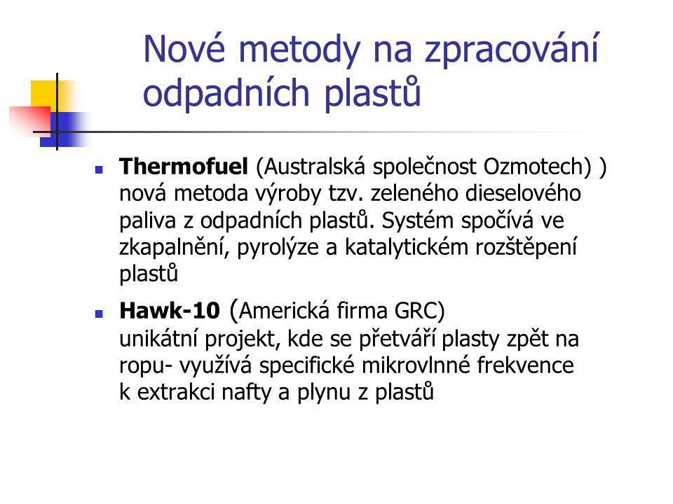 Nové metody na zpracování odpadních plastů