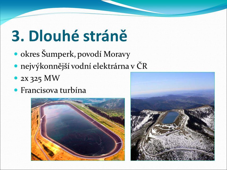 3. Dlouhé stráně okres Šumperk, povodí Moravy
