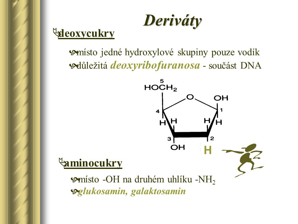Deriváty deoxycukry H aminocukry