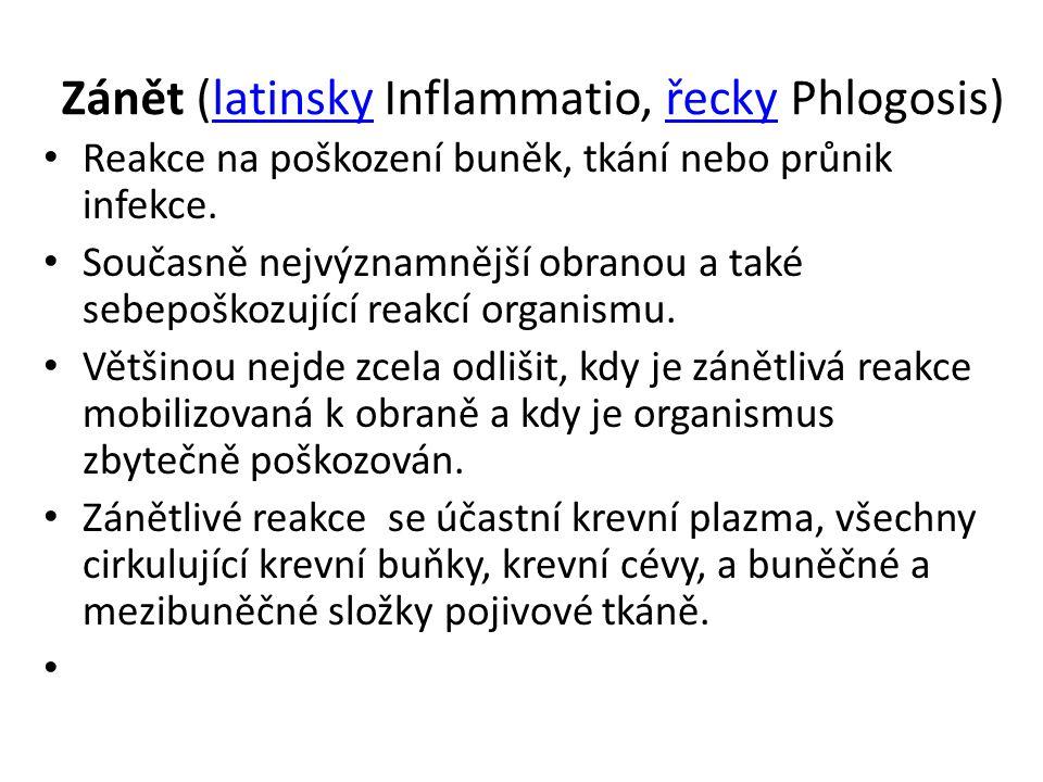 Zánět (latinsky Inflammatio, řecky Phlogosis)