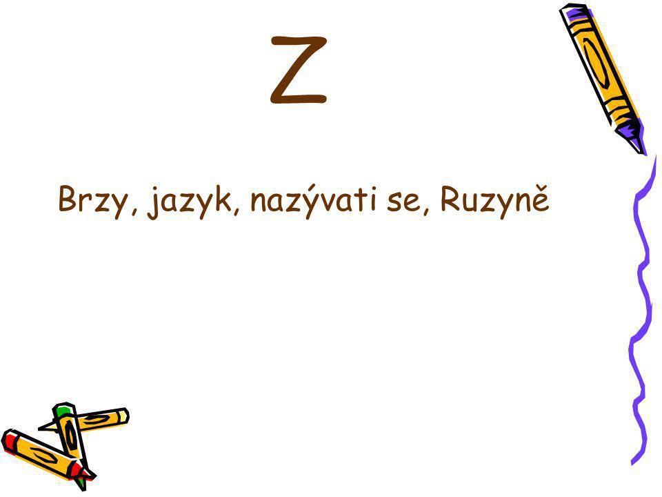 Z Brzy, jazyk, nazývati se, Ruzyně