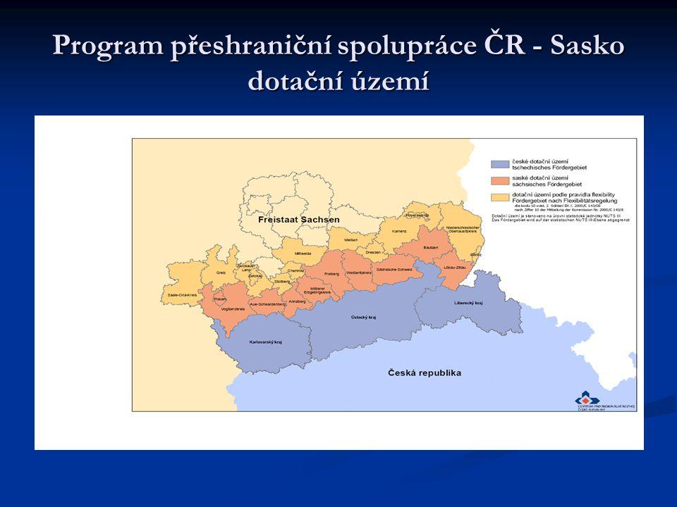 Program přeshraniční spolupráce ČR - Sasko dotační území