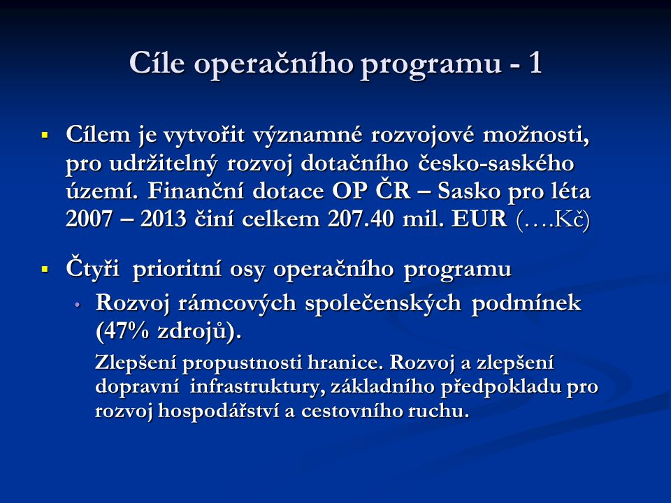 Cíle operačního programu - 1