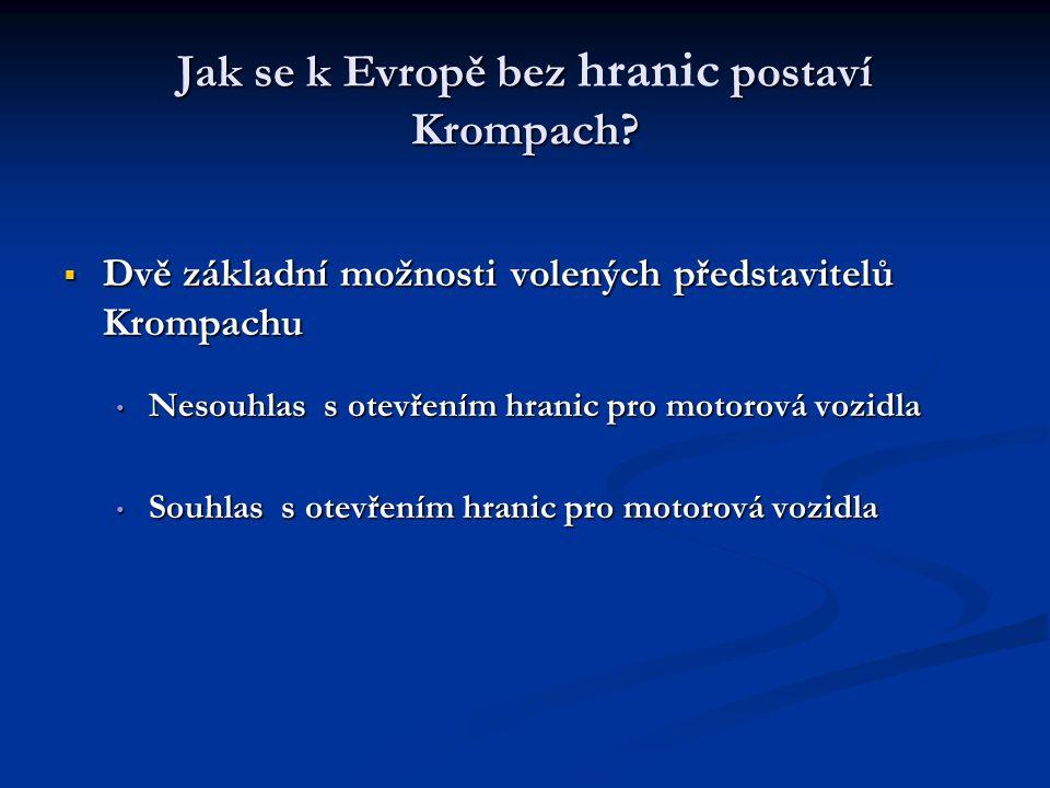 Jak se k Evropě bez hranic postaví Krompach