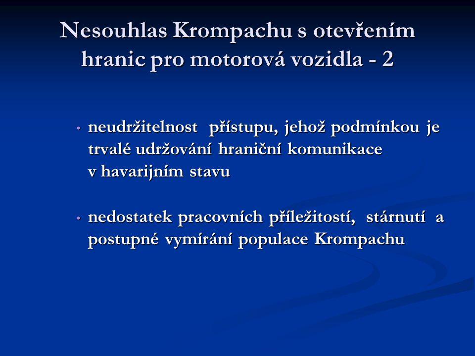 Nesouhlas Krompachu s otevřením hranic pro motorová vozidla - 2