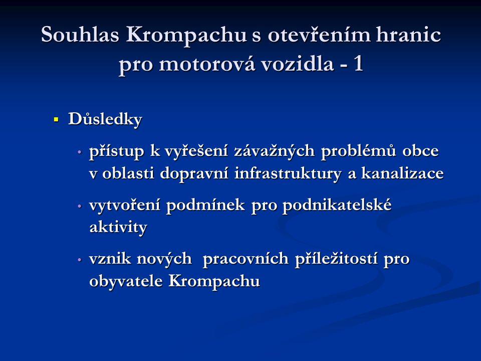 Souhlas Krompachu s otevřením hranic pro motorová vozidla - 1