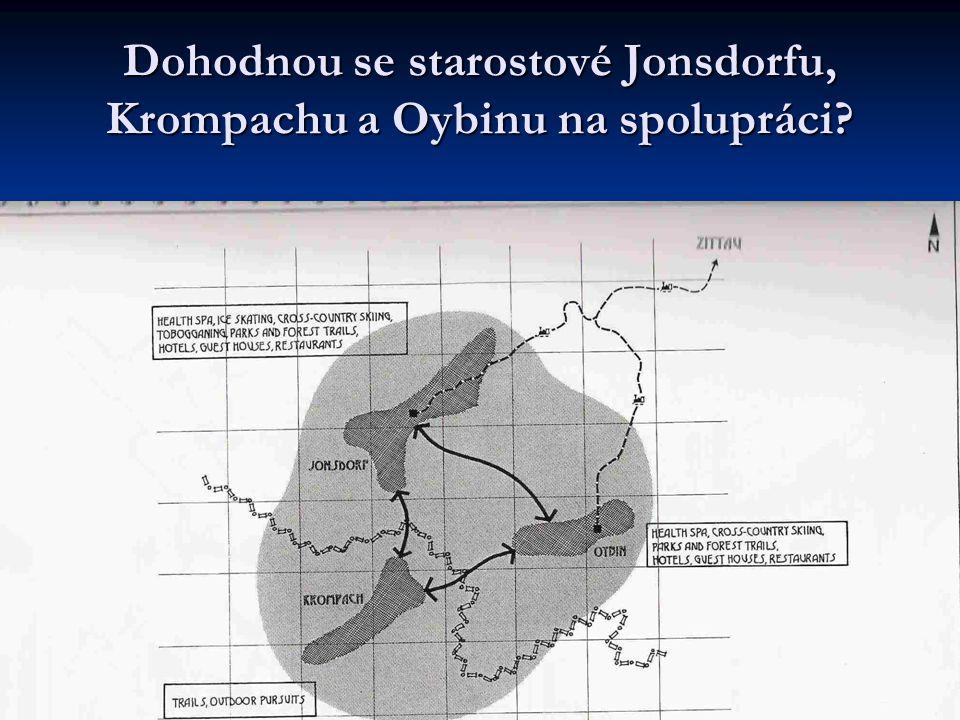 Dohodnou se starostové Jonsdorfu, Krompachu a Oybinu na spolupráci