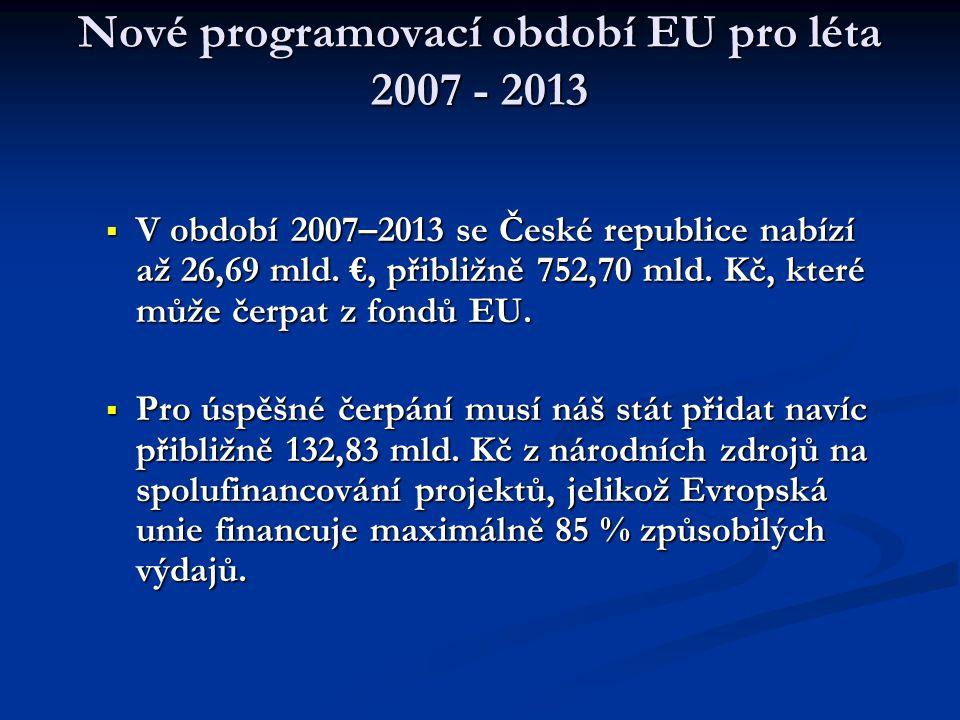 Nové programovací období EU pro léta 2007 - 2013