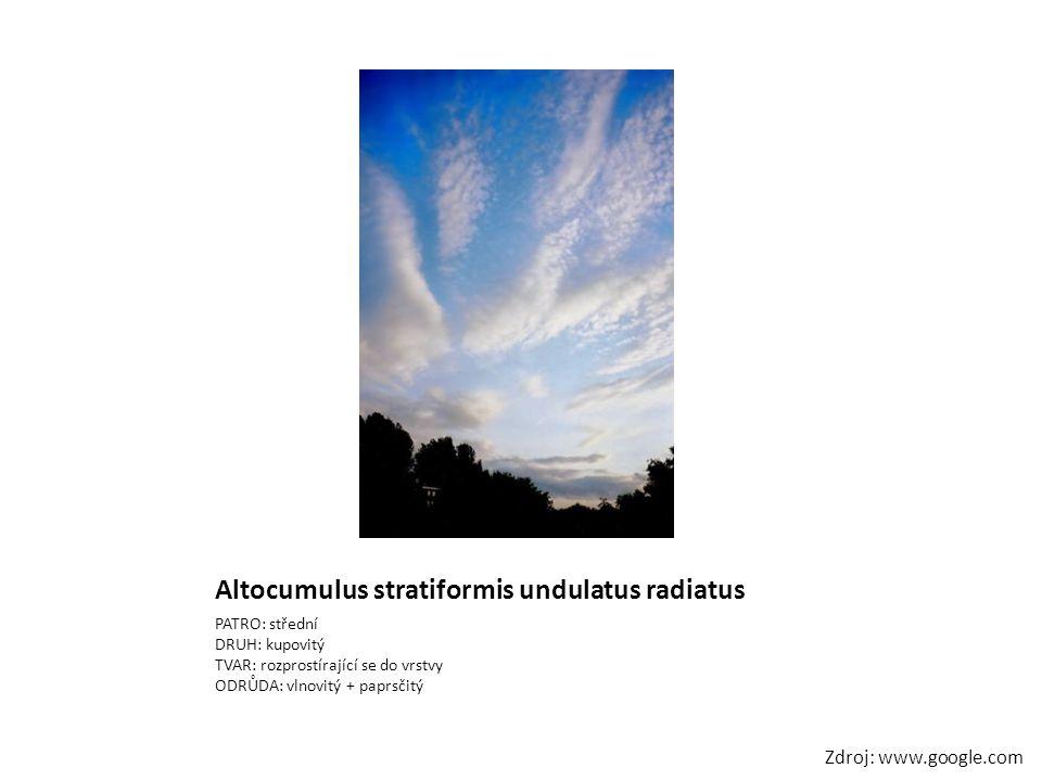 Altocumulus stratiformis undulatus radiatus