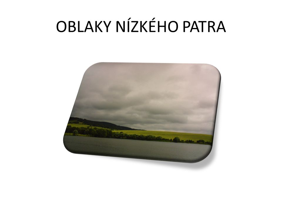 OBLAKY NÍZKÉHO PATRA