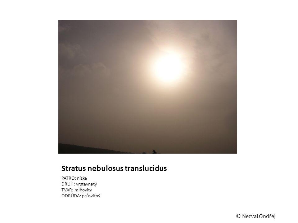 Stratus nebulosus translucidus