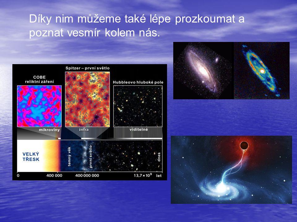 Díky nim můžeme také lépe prozkoumat a poznat vesmír kolem nás.