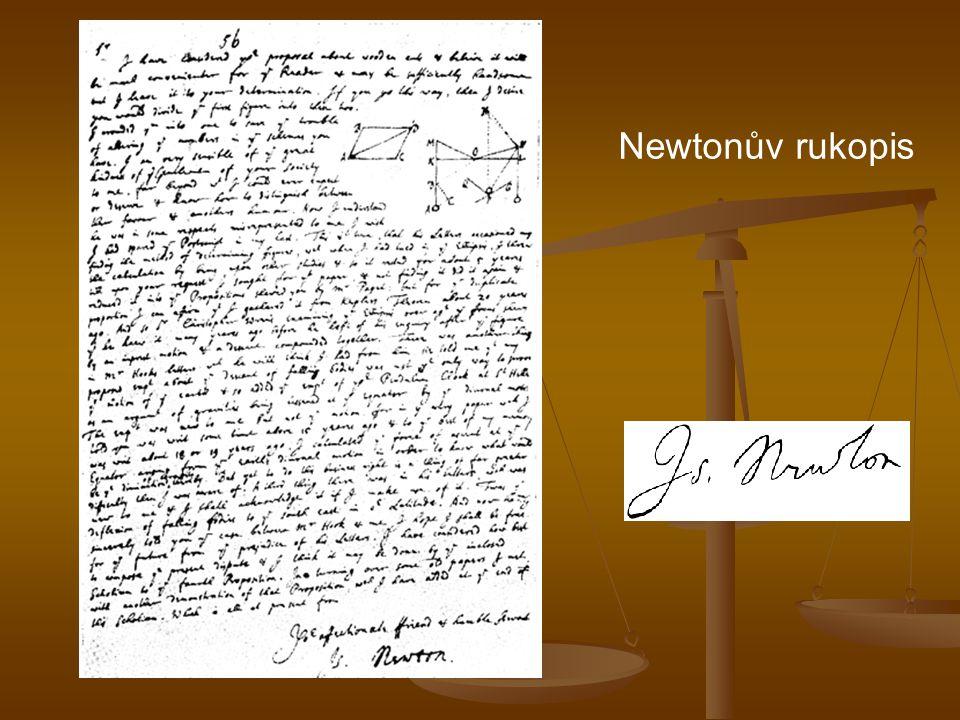 Newtonův rukopis