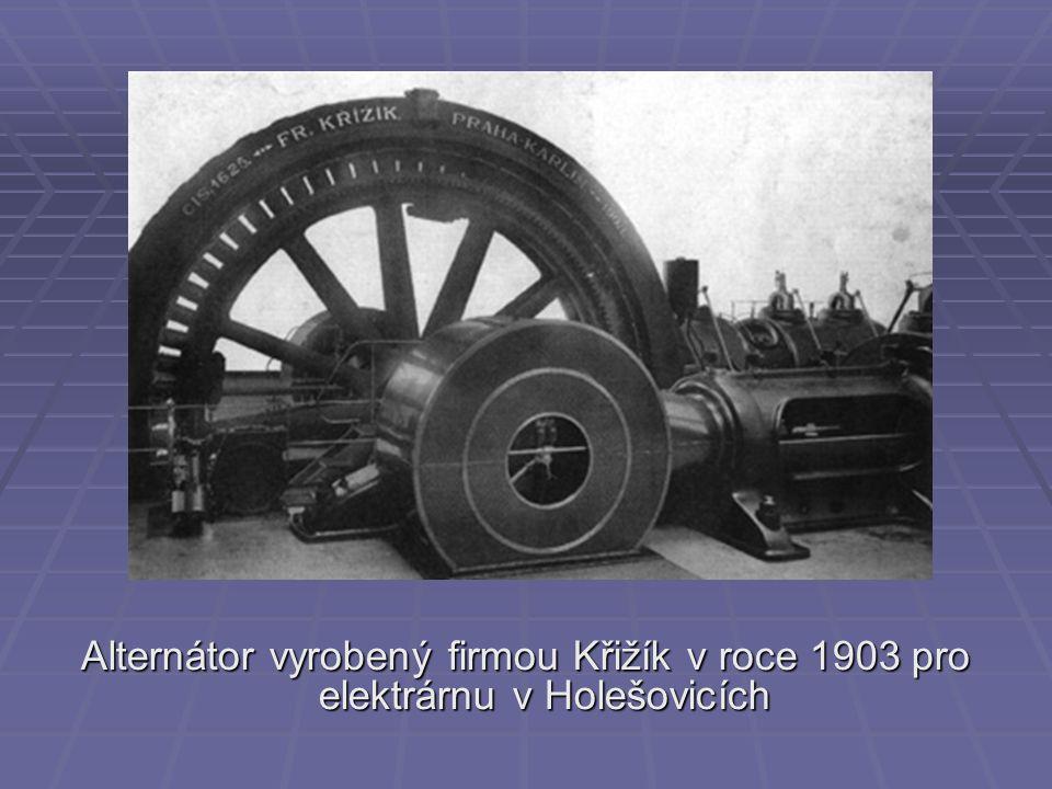 Alternátor vyrobený firmou Křižík v roce 1903 pro elektrárnu v Holešovicích
