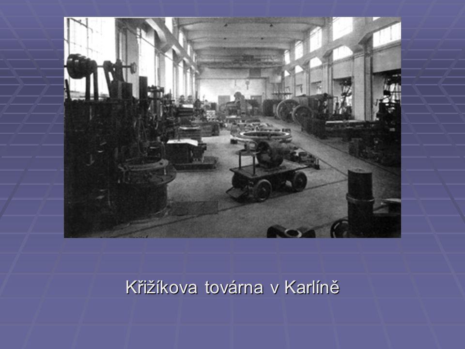Křižíkova továrna v Karlíně