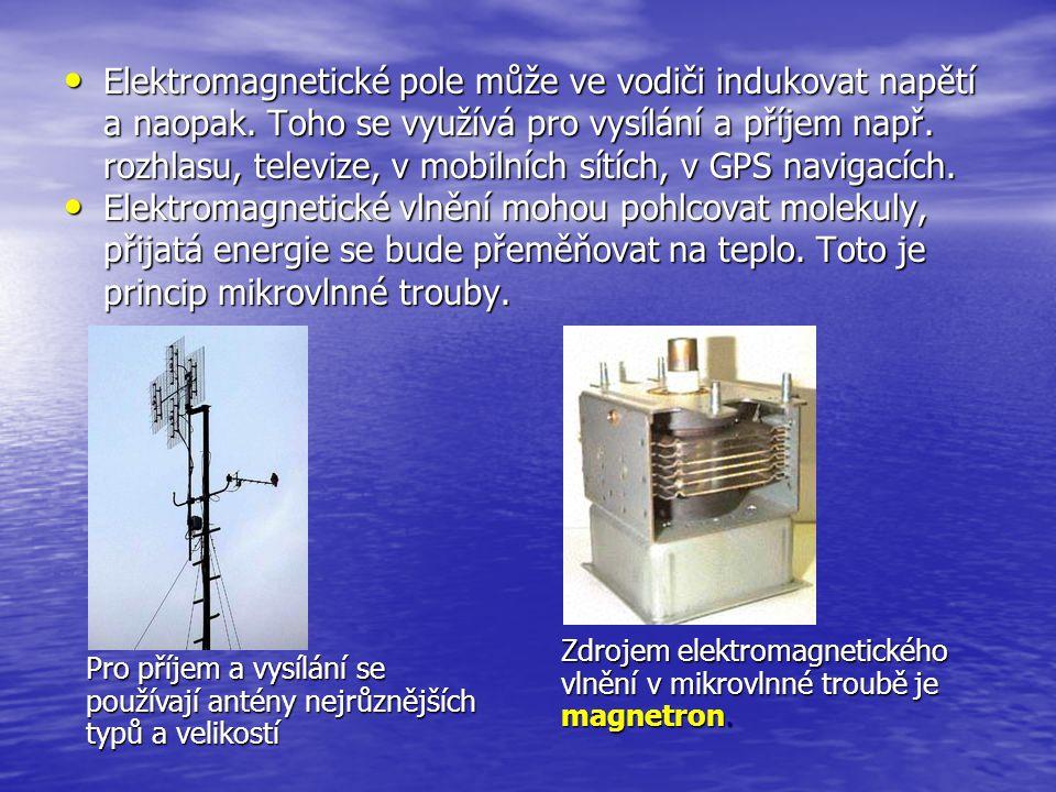 Elektromagnetické pole může ve vodiči indukovat napětí a naopak