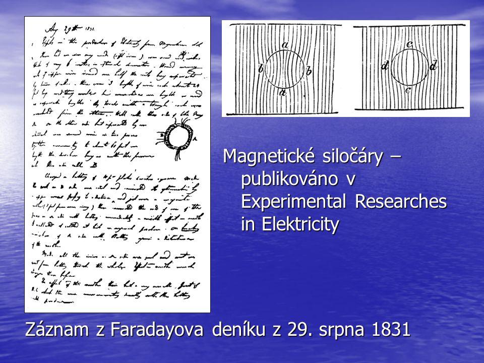 Magnetické siločáry – publikováno v Experimental Researches in Elektricity