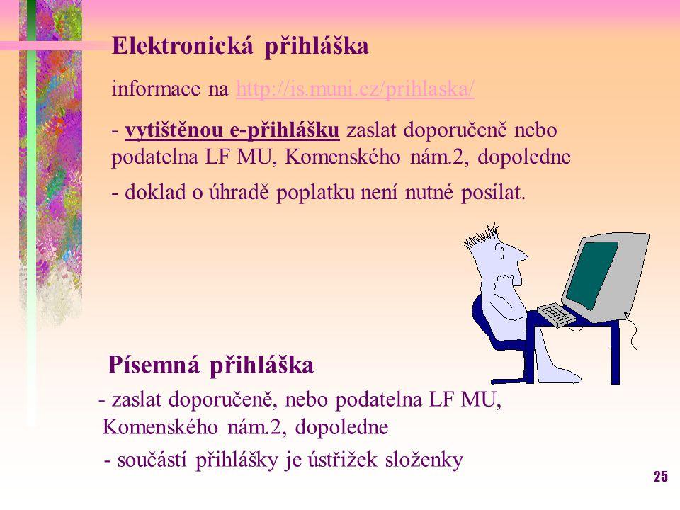 Elektronická přihláška