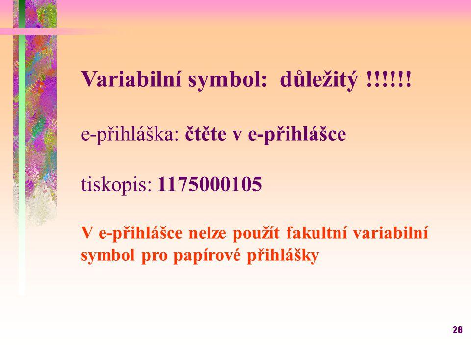 Variabilní symbol: důležitý !!!!!!