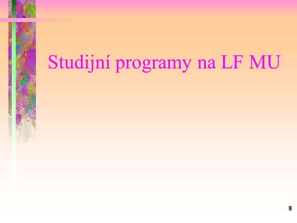 Studijní programy na LF MU