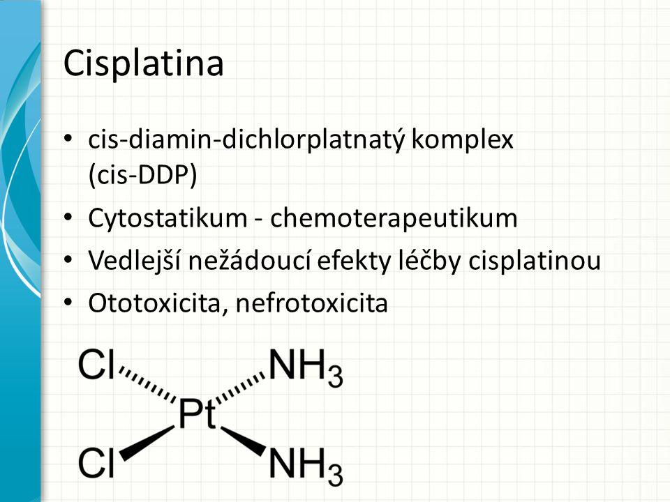Cisplatina cis-diamin-dichlorplatnatý komplex (cis-DDP)