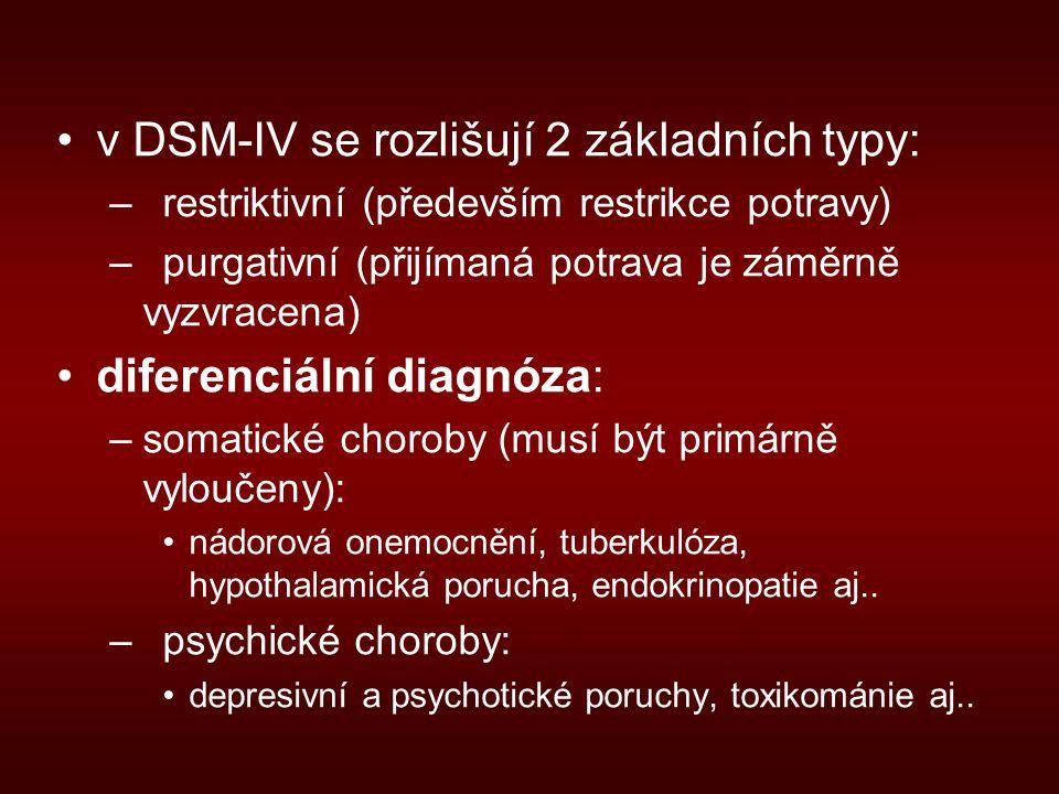 v DSM-IV se rozlišují 2 základních typy: