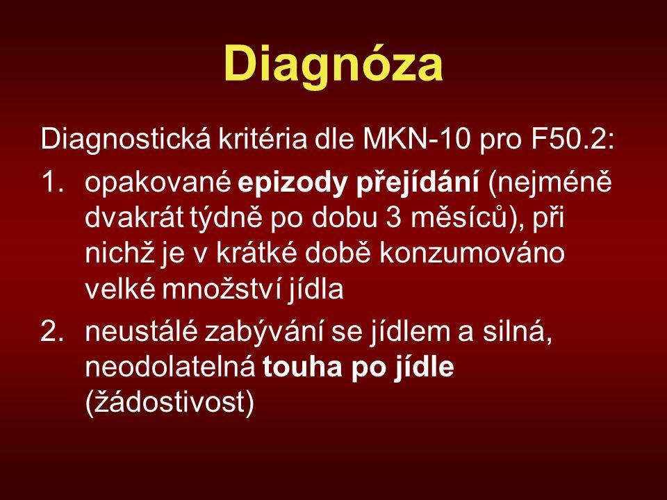 Diagnóza Diagnostická kritéria dle MKN-10 pro F50.2: