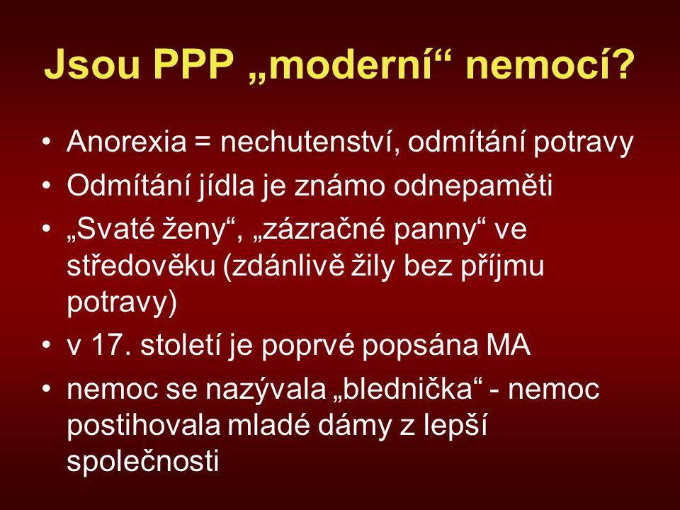 """Jsou PPP """"moderní nemocí"""