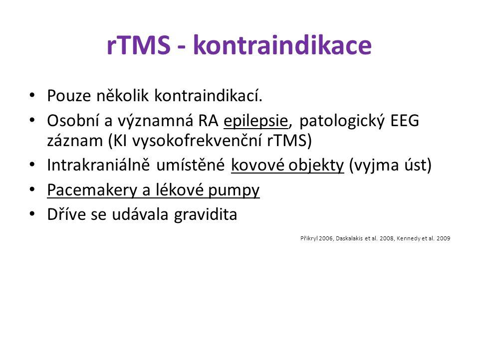 rTMS - kontraindikace Pouze několik kontraindikací.