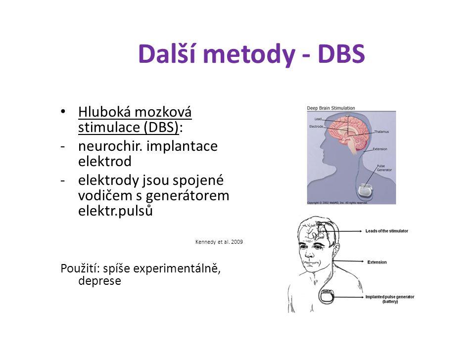 Další metody - DBS Hluboká mozková stimulace (DBS):