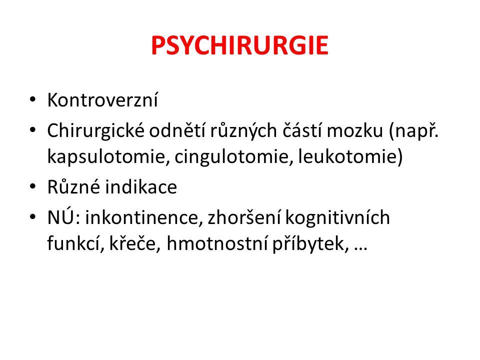 PSYCHIRURGIE Kontroverzní
