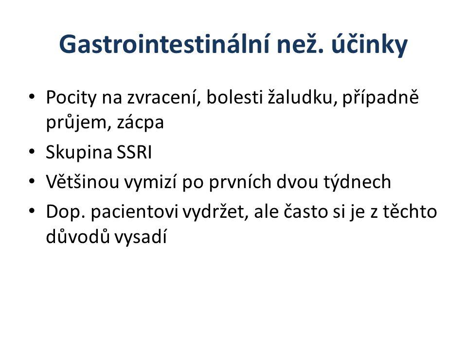 Gastrointestinální než. účinky