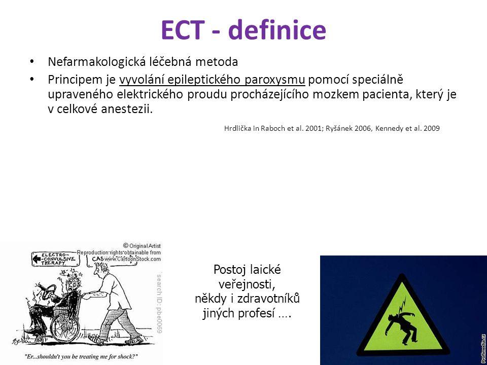 ECT - definice Nefarmakologická léčebná metoda