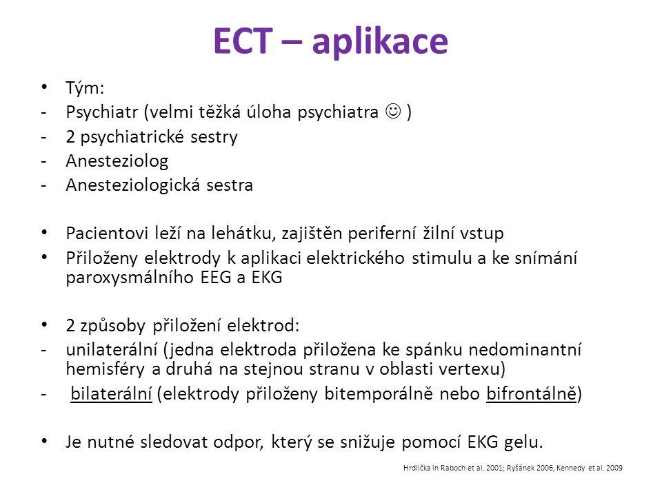 ECT – aplikace Tým: Psychiatr (velmi těžká úloha psychiatra  )