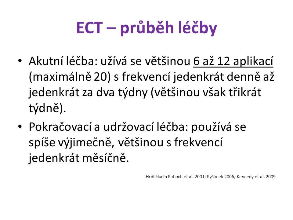 ECT – průběh léčby