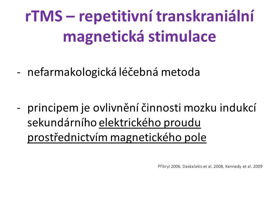 rTMS – repetitivní transkraniální magnetická stimulace