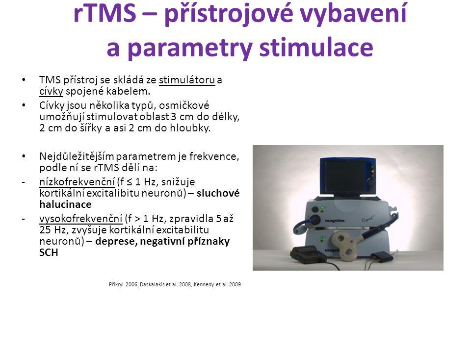 rTMS – přístrojové vybavení a parametry stimulace