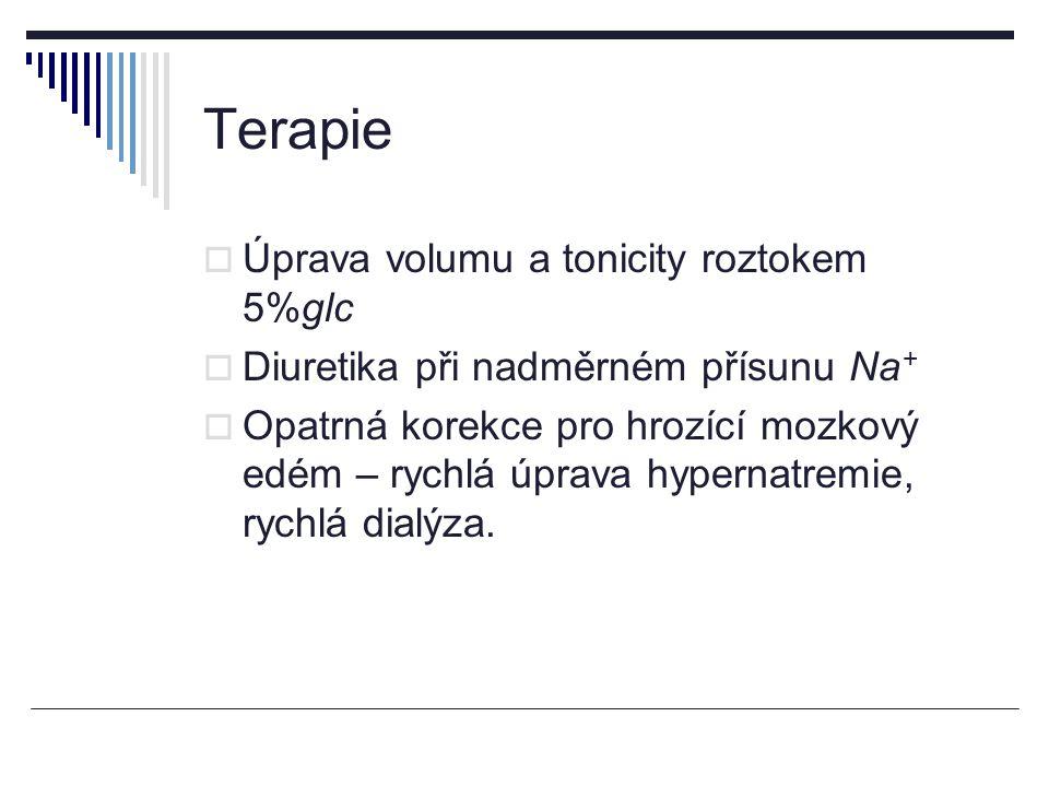 Terapie Úprava volumu a tonicity roztokem 5%glc