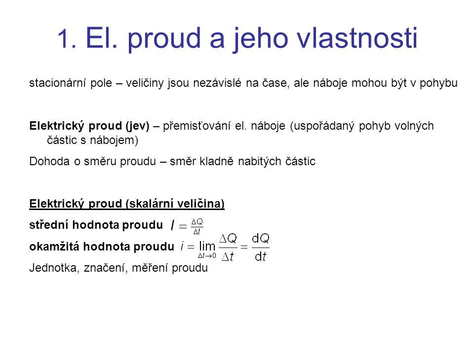 1. El. proud a jeho vlastnosti