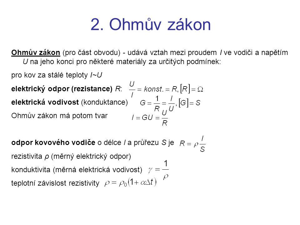 2. Ohmův zákon