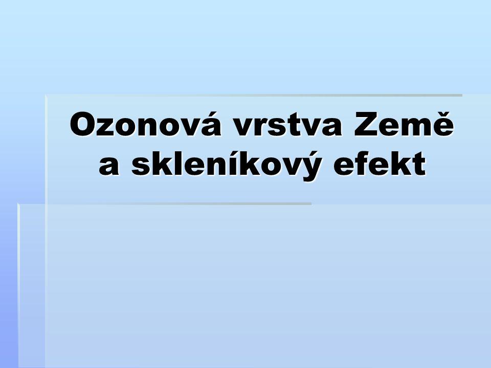 Ozonová vrstva Země a skleníkový efekt