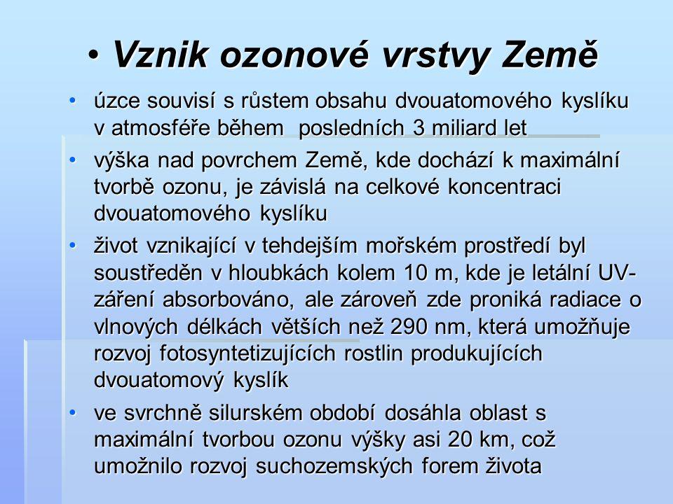 Vznik ozonové vrstvy Země