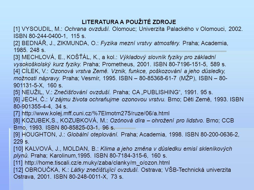 LITERATURA A POUŽITÉ ZDROJE