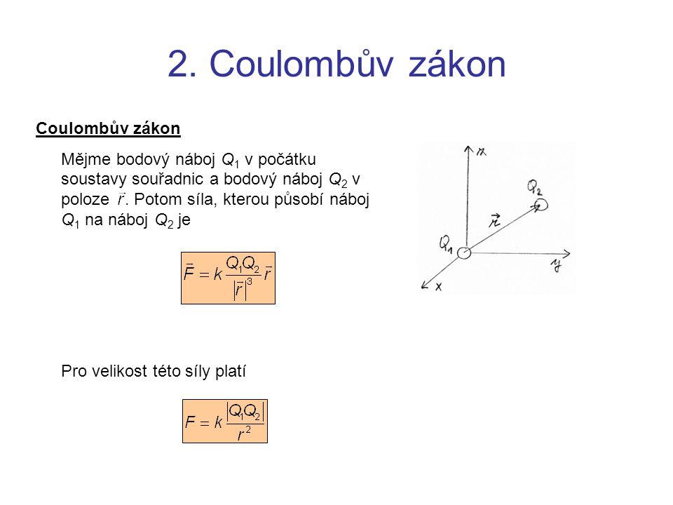 2. Coulombův zákon Coulombův zákon