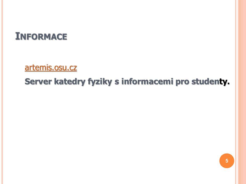 Informace artemis.osu.cz