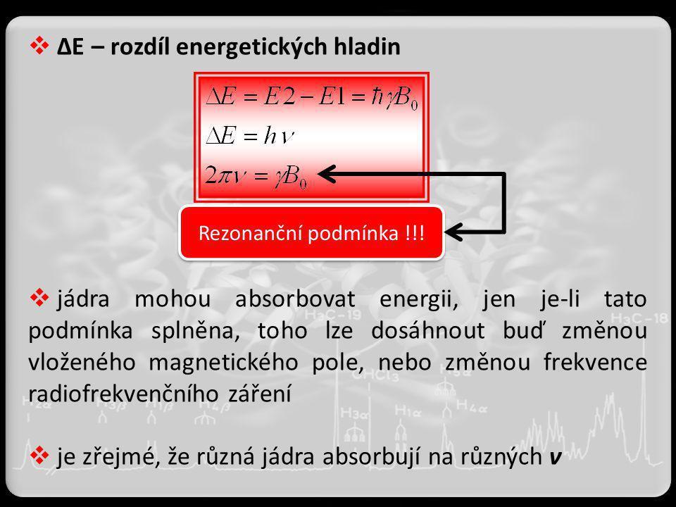 ΔE – rozdíl energetických hladin