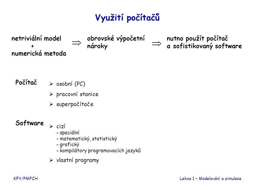 Využití počítačů netriviální model + numerická metoda